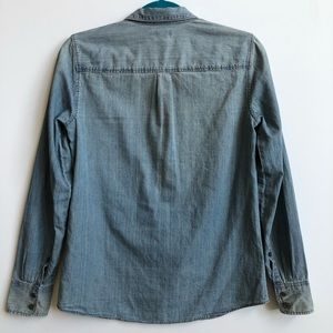 J. Crew Tops - J. Crew Collection boy shirt in beaded chambray